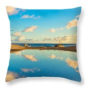 Hokulea Docked On Kailua Beach 3 To 1 Aspect Ratio  Throw Pillow