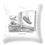 Hold Everything! Throw Pillow