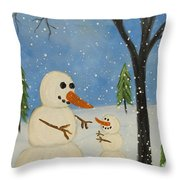 Hold Me I'm Cold Throw Pillow