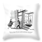 Hold On A Minute Throw Pillow