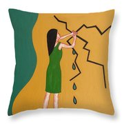 Holding Back The Flood Throw Pillow by Patrick J Murphy