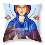 Holding Cross Throw Pillow