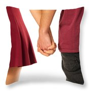 Holding Hands Throw Pillow by Carlos Caetano