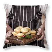 Holding Mince Pies Throw Pillow