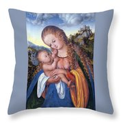 Holding My Face Throw Pillow