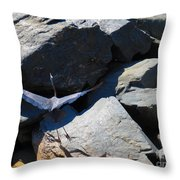 Holding Up The Rock Throw Pillow