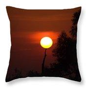 Holding Up The Sun Throw Pillow