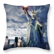 Holding Your Torch Throw Pillow