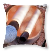Hole In The Wall Throw Pillow by Fran Riley