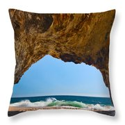 Hole In The Wall - Natural Tunnel In Santa Cruz Throw Pillow