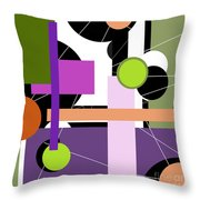 Holes And Pegs Throw Pillow