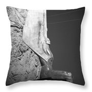 Holga Winged Figures Of The Republic Side View Throw Pillow