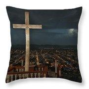 Holguin Cuba Loma De La Cruz Throw Pillow