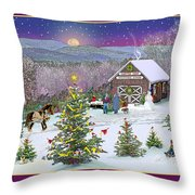 Holiday At Campton Farm New Hampshire Throw Pillow