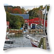 Holiday At Rockport Throw Pillow