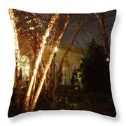 Holiday Birches Throw Pillow