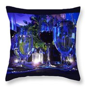 Holiday Blues Throw Pillow