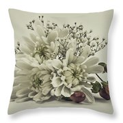 Holiday Boquet Throw Pillow