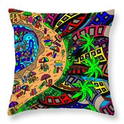 Holiday By The Sea Throw Pillow