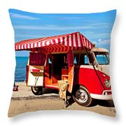 Holiday By The Seaside Throw Pillow
