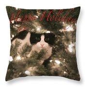 Holiday Card Throw Pillow