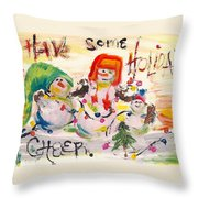 Holiday Cheer Throw Pillow