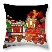 Holiday Express Throw Pillow