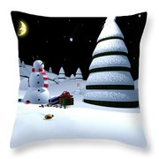 Holiday Falling Star Throw Pillow by Cynthia Decker