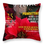 Holiday Home Magazine Cover Throw Pillow