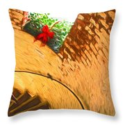 Holiday In The Lighthouse Throw Pillow