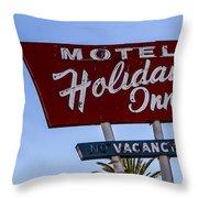 Holiday Inn 3 Throw Pillow
