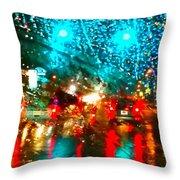 Holiday Lightp Throw Pillow