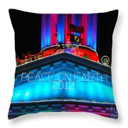 Holiday Lights 2012 Denver City And County Building E3 Throw Pillow