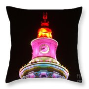 Holiday Lights 2012 Denver City And County Building F4 Throw Pillow