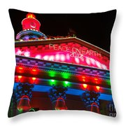 Holiday Lights 2012 Denver City And County Building L1 Throw Pillow