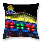 Holiday Lights 2012 Denver City And County Building L5 Throw Pillow