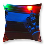 Holiday Lights 2012 Denver City And County Building M1 Throw Pillow