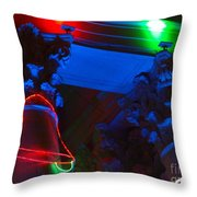 Holiday Lights 2012 Denver City And County Building M3 Throw Pillow