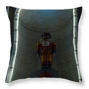 Holiday Lights 2012 Denver City And County Building P3 Throw Pillow