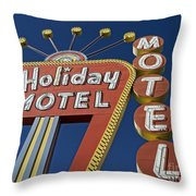 Holiday Motel Las Vegas Throw Pillow