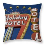 Holiday Motel Las Vegas Throw Pillow by Edward Fielding