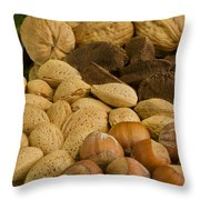 Holiday Nuts Throw Pillow