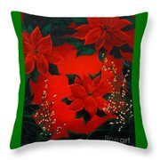Holiday Pedals Throw Pillow