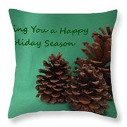 Holiday Pine Cones Throw Pillow