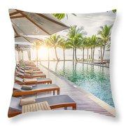 Holiday Resort Throw Pillow