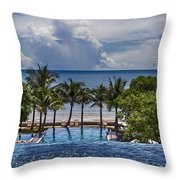 Holiday Resort With Jacuzzi And Pool Throw Pillow
