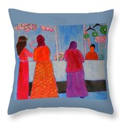 Holiday Shoppers On Prince Island Throw Pillow