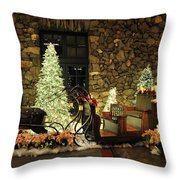 Holiday Sleigh Hsp Throw Pillow by Jim Brage