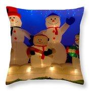 Holiday Snowmen 2 Throw Pillow
