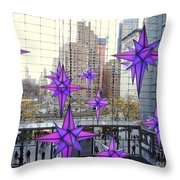 Holiday Stars Throw Pillow